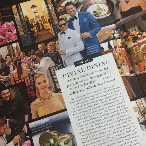 Thank you Kellie Hush for sharing our Melbourne 10th Anniversary dinner party in this months issue of Harpers Bazaar Australia