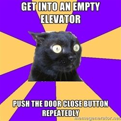 I used to walk extra fast from the parking garage to avoid being stuck on the elevator with my coworkers... hahaha.