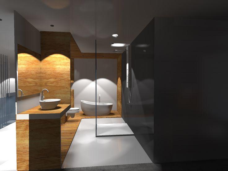 Projekt domu jednorodzinnego- projekt łazienki