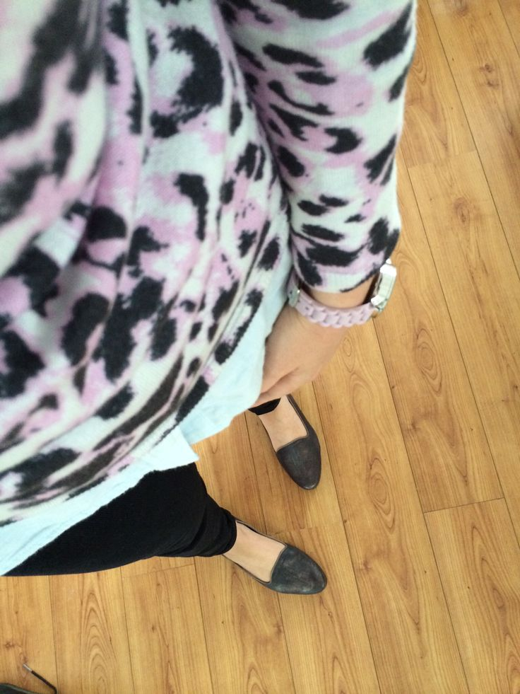 Candy leopard print. Chambray shirt. Comfy loafers. Facebook.com/circleofstylebyrebeccagiles