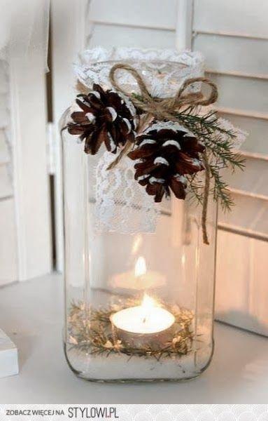 DOMdecor - Aranżacje ❋ Inspiracje ❋ Porady: Słoiki - pomysł na nietypowe świeczniki