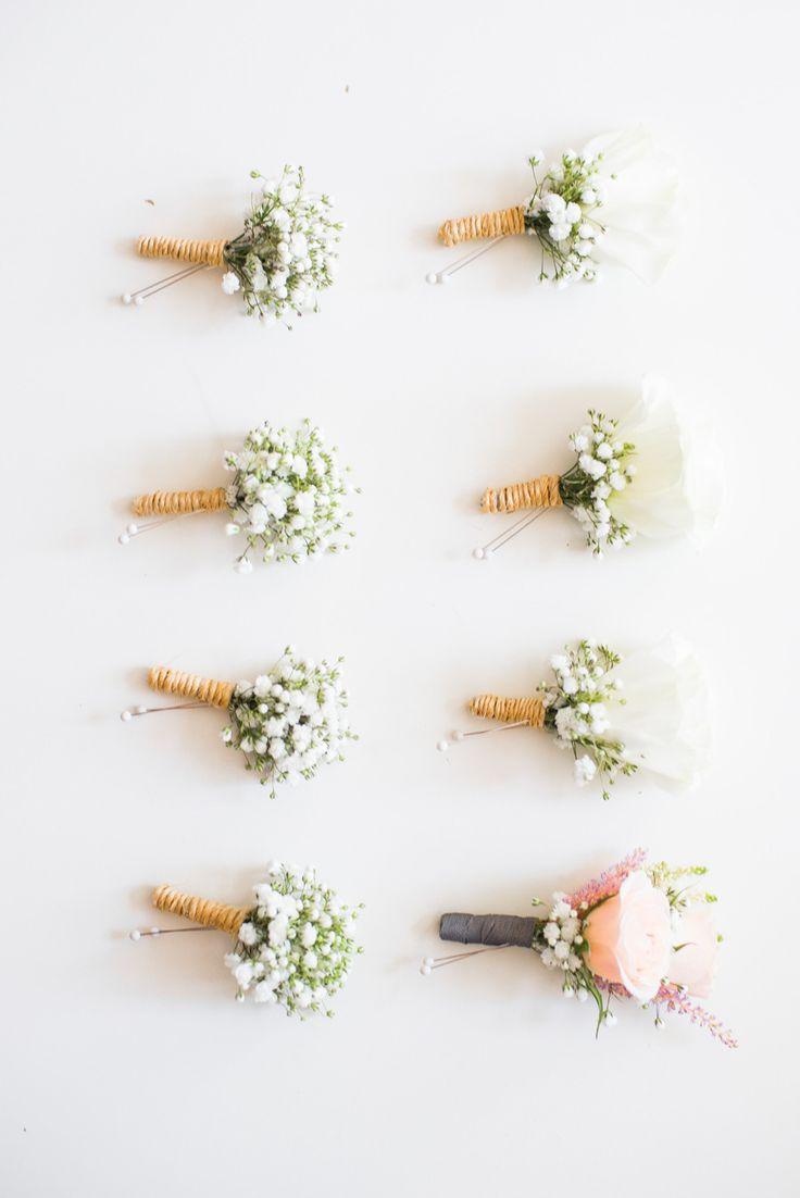 #babys-breath, #boutonniere  Photography: Rachwal Photography - rachwalphotography.com  Read More: http://www.stylemepretty.com/canada-weddings/manitoba/winnipeg/2014/01/21/diy-vintage-wedding-in-winnipeg-manitoba-canada/
