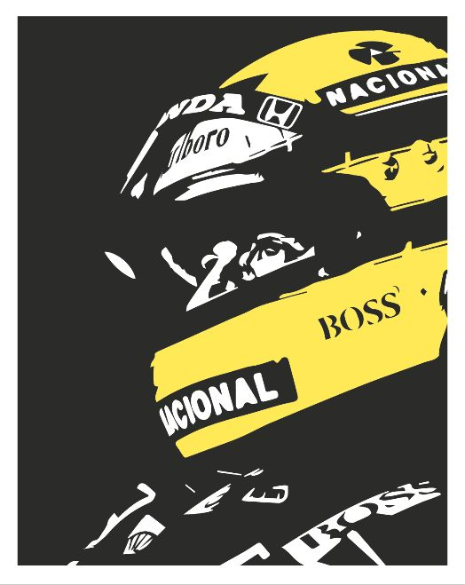 Ayrton Senna poster by PosterBoys on Etsy