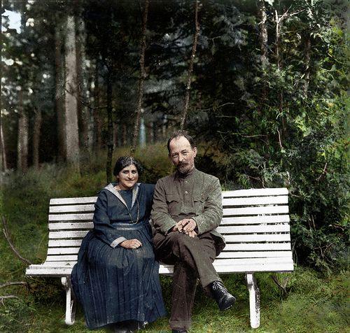 Felix Dzerzhinsky with his wife Zofia Muszkat near Moscow, 1923 | by klimbims