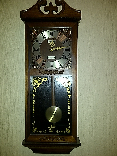 I want to use this grandfather clock that is actually in the entrance