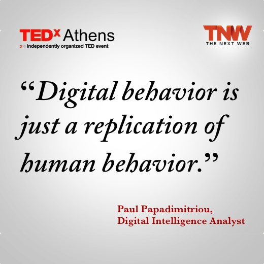 'digital behavior is just a replication of human behavior.' So true with Social Cognitive Theory. Human behaviors learned in reality often times cross over onto the internet. This includes both positive and negative aspects of human communication patterns and behaviors such as bullying among children.
