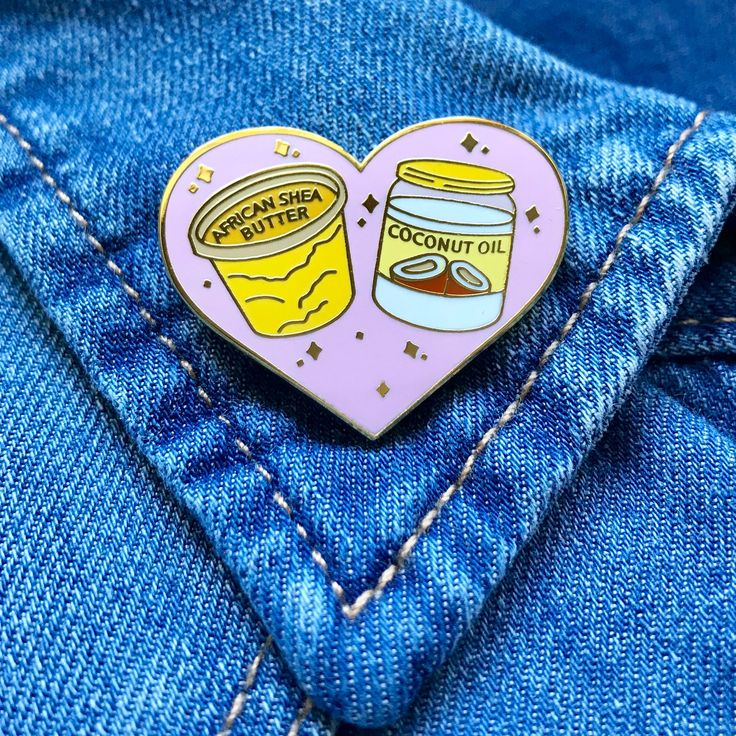 This Hard Enamel Pin Features Moisturizing Essentials