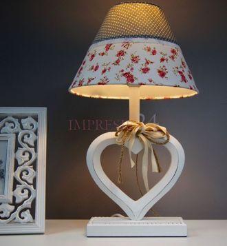 "Urocza lampka ""Serce"" | Lovely lamp ""Heart"" #lampa #lampka #serce #rustykalna #dodatek #dekoracje #sypialnia #lamp #white #rustic #heart #bedroom"