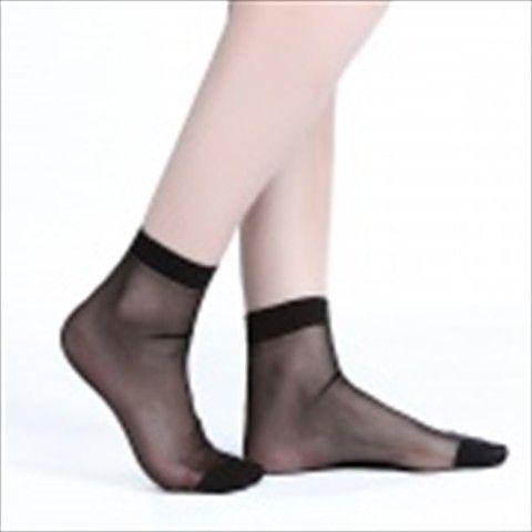 ZHIBUREN Autumn And Winter Warm Crystal Silk Socks - Black (5 Pair)  $8.51