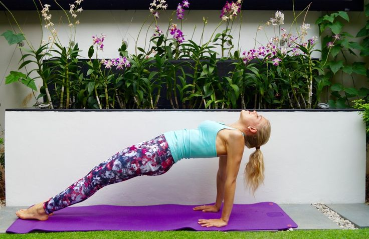 I do this pose at least 3 times a week! It trains my arms, legs and boosts my mood #yoga #workout #fitness