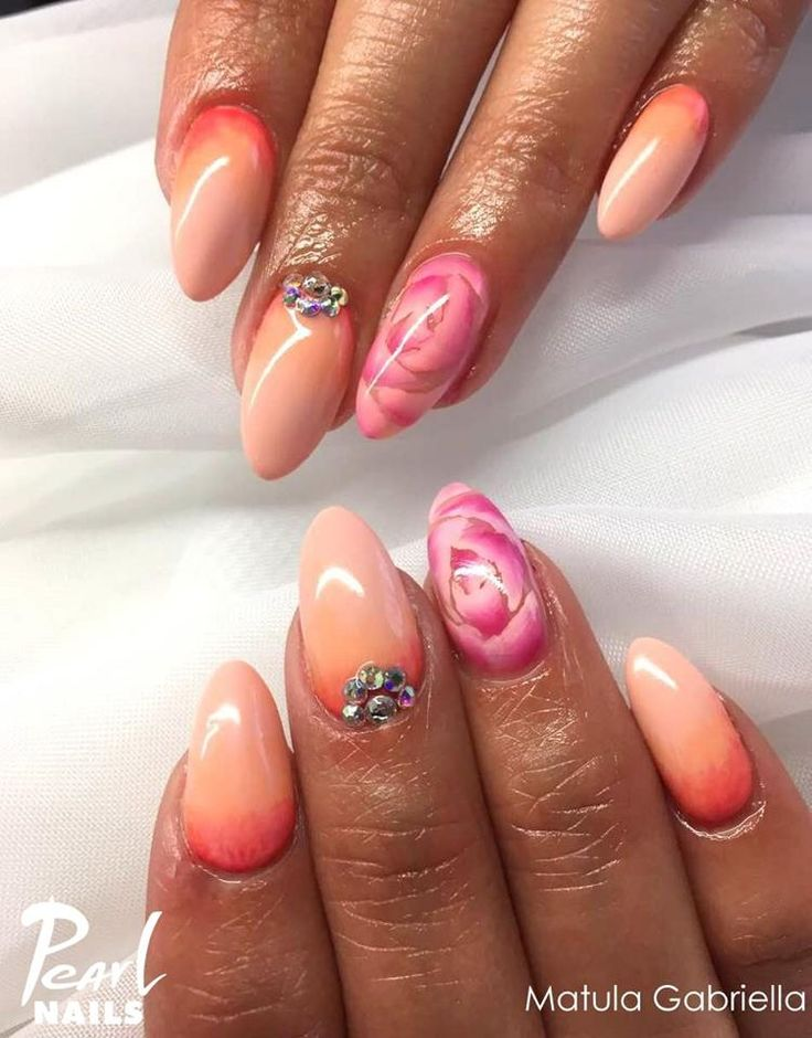 Felhasznált anagok/Nails made with: PearLac One Step 013, 220, 224 gél lakk. Minta/pattern: akril festék. #pearlnails #nails #műköröm #géllakk #gellac #summernails