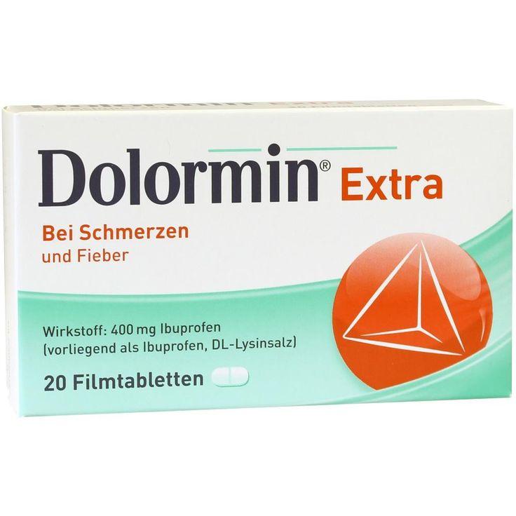 DOLORMIN extra Schmerzmittel: Bei leichten bis mäßig starken Schmerzen, z.B. Kopfschmerzen, Zahnschmerzen und Regelschmerzen oder auch bei…