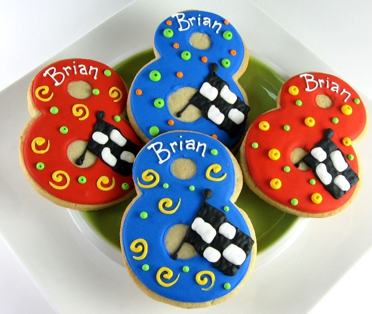 11 Best Number Cookies Images On Pinterest Frosted