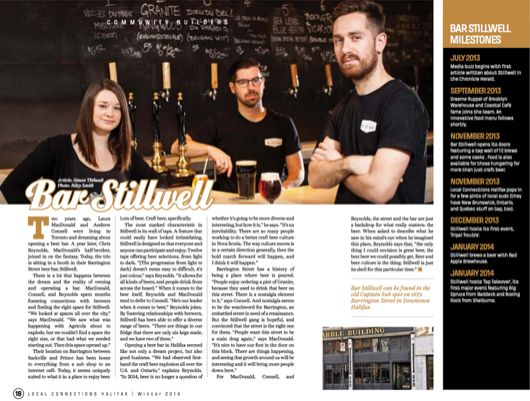 Located on Barrington Street in downtown Halifax, Stillwell is the place to go for great craft beers from Nova Scotia's flourishing craft brewing community and beyond. On draught or freshly conditioned in casks and bottles, the beers are exciting, flavourful, and always changing.