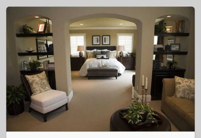 Love how there is a area before the bedroom