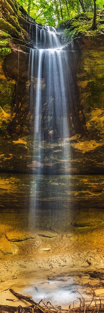 Memorial Falls waterfall near Munising, Michigan.