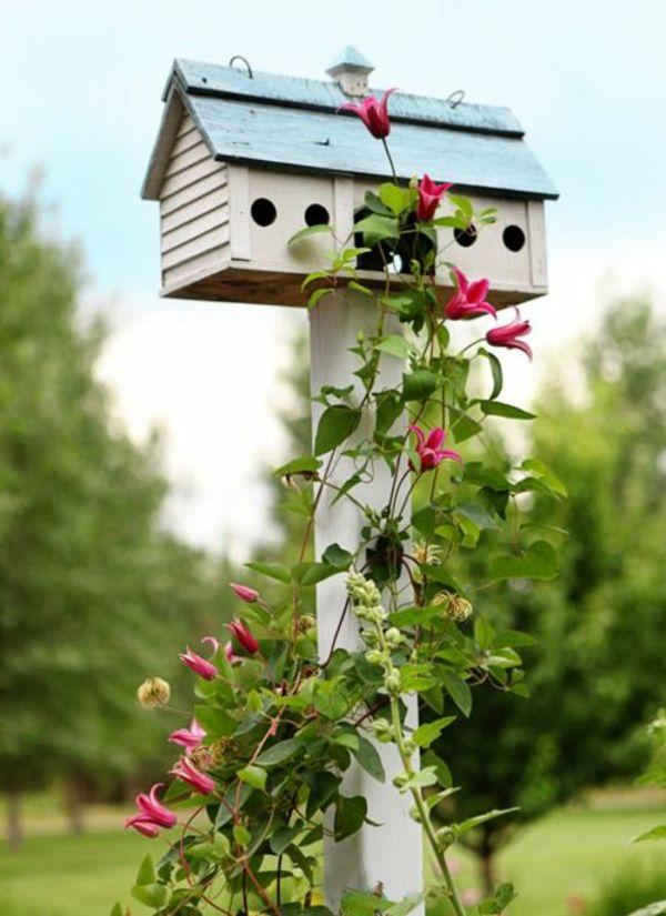 vogelhaus selber bauen holz umweltfreundlich strauch