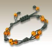 i have a pin of a bracelet like this with pearls and what looks like waxed linen - this is a nice variation