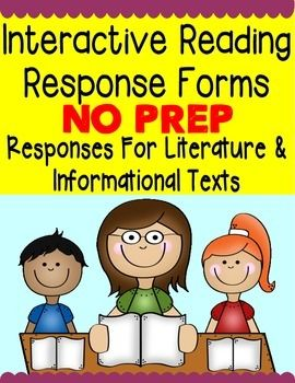 This is a 61 page resource full of interactive reading response activities for reading journals, whole group instruction, or guided reading instruction. Student checklists and reference sheets are included for accountability.