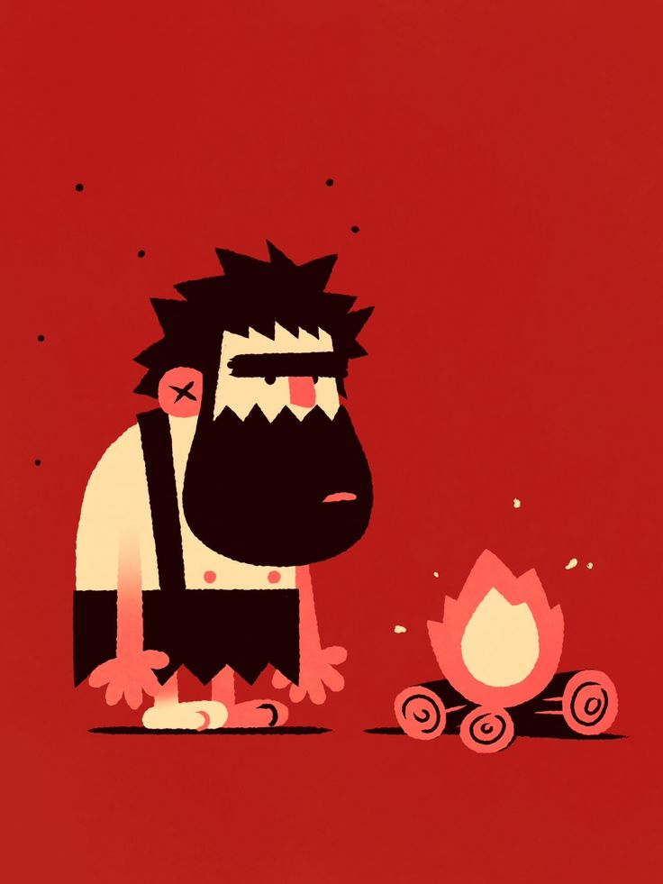 JOSHUA MENAS - I drew this caveman for work today. He's going to...