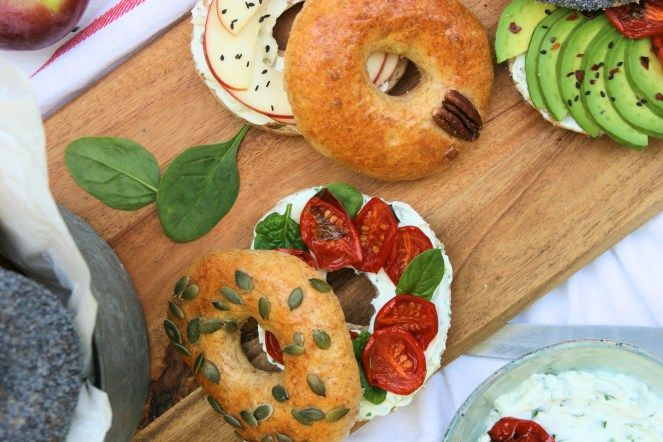 Wholewheat bagels / Celozrnné bagely
