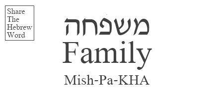 Family in Hebrew
