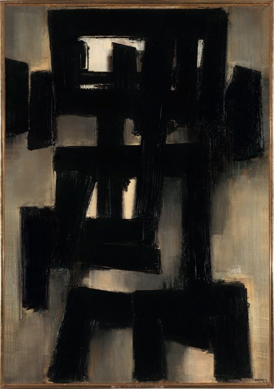 Pierre Soulages, 1955 Courtesy Galerie Perrotin