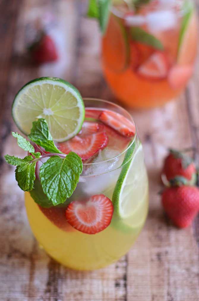 Mango Strawberry Sangria- sip on this fruity wine-based cocktail as you lounge in the sun! | blog.hostthetoast.com