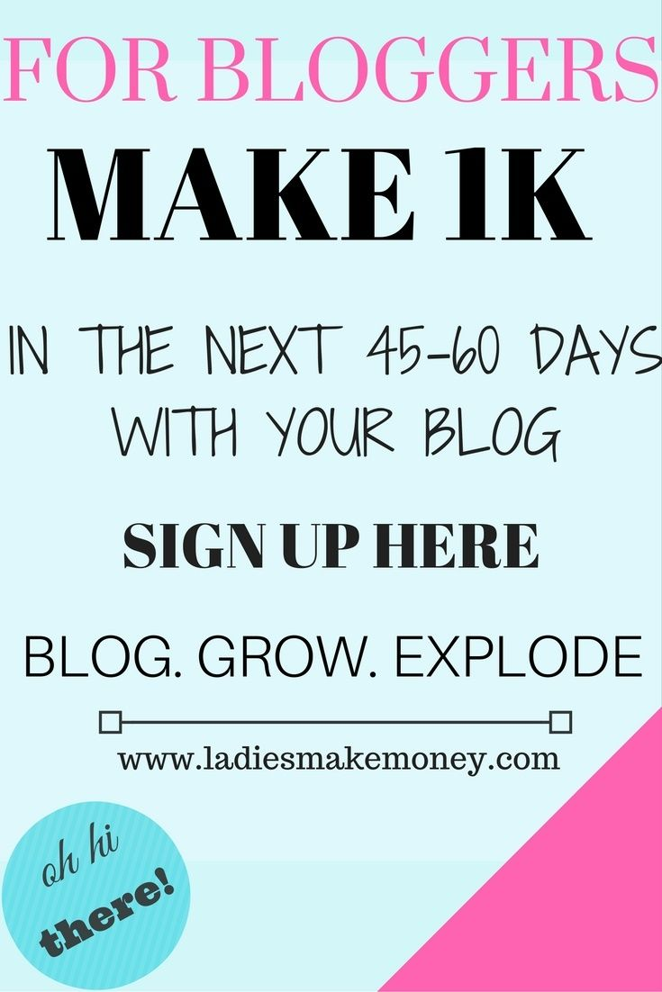 Make your next 1K in the next 45-60 days with your blog. Find out how you can make $1000 per month using your blog.