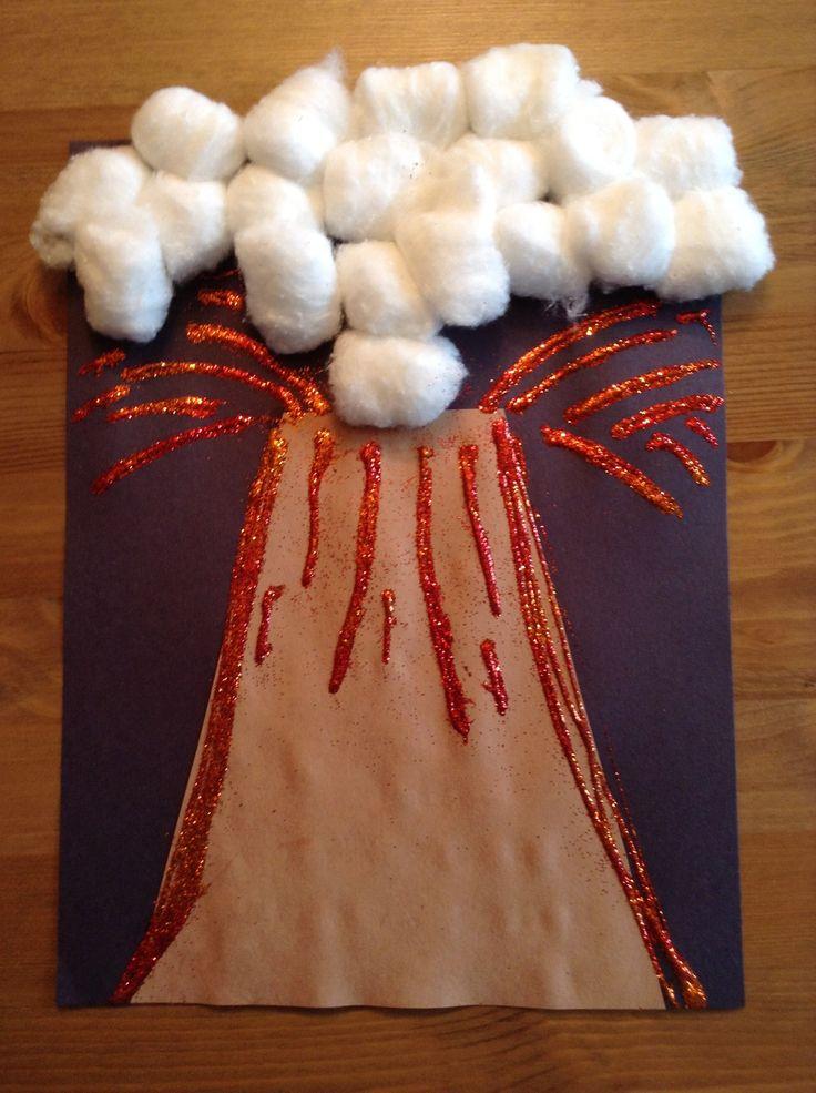 V is for Volcano Craft - Preschool Craft