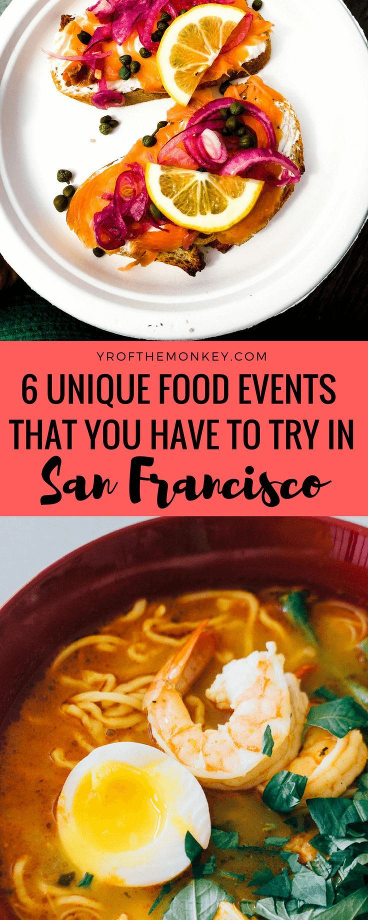 Unique eats San Francisco is your guide to 6 unique food events in the city which goes beyond SF restaurant reservations. A resident foodie's guide, this post is about San Francisco alternate dining with food tours, social dining, farmers markets, food ha