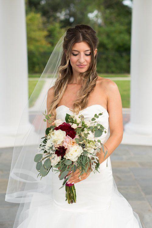 Bridal portrait | Black Tie Wedding at the Sheraton Virginia Beach Oceanfront Hotel; black, burgandy, blush wedding
