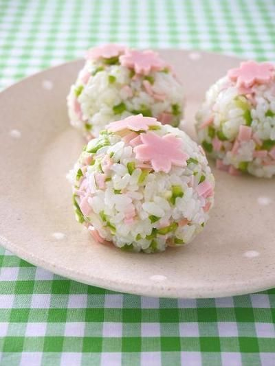 Cherry blossom rice balls If only I could read Japanese