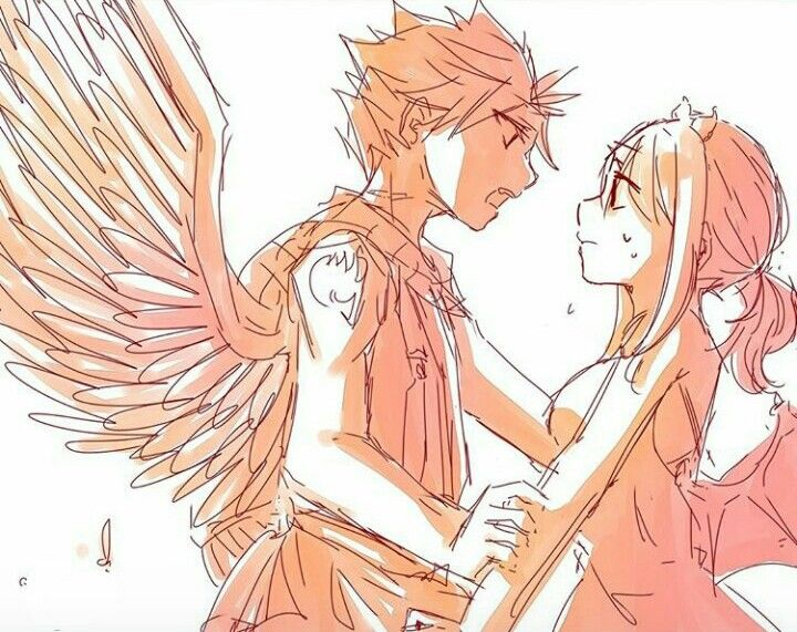 Natsu the angel and Lucy the demon | NALU❤❤❤ | Fairy tail