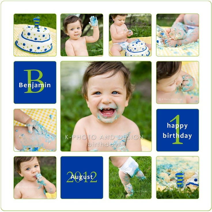 First Birthday Photo Collage