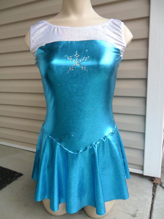 Girl S Disney Inspired Queen Elsa Figure Skating Dress From Frozen With Attached Cape Figure