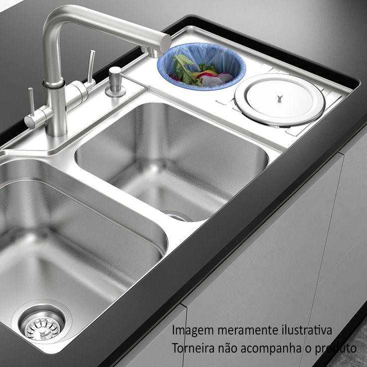 Para facilitar ainda mais a sua atividade na cozinha tenha uma cuba dupla. #Prod135630