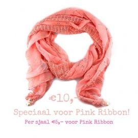 Pink Ribbon Actie Scarf Pink