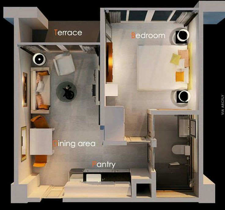 257 best plans of apartments images on - 1 bedroom basement apartment floor plans ...