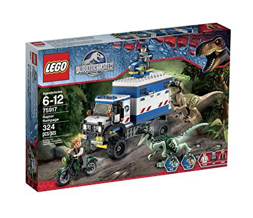 LEGO Jurassic World Raptor Rampage 75917 Building Kit LEGO http://smile.amazon.com/dp/B00UPB9RO4/ref=cm_sw_r_pi_dp_2XFFvb1GY2BTA