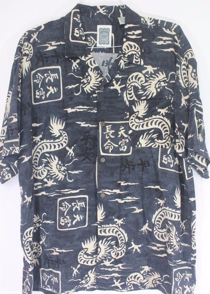 Genuine Ocean Current vintage dragon  Korean  size X L Hawaiians shirt #OceanCurrent #Hawaiian
