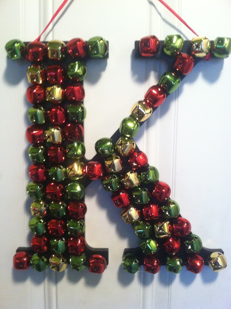 376 best images about the letter k on pinterest for Alphabet christmas wreath