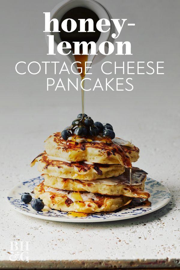 Honey Lemon Cottage Cheese Pancakes Recipe Cottage Cheese Recipes Honey Pancakes Recipes