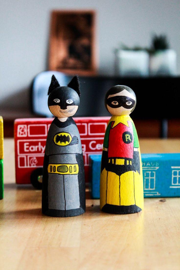 DIY: I need a Hero! Batman und Robin für's Bücherregal