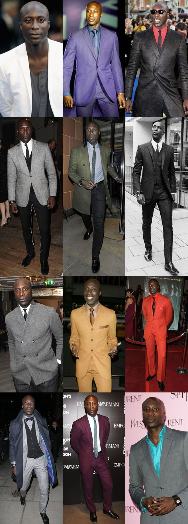 The Ozwald Boateng Men's Look Book He looks great in all his outfits but I feel the majority of pale skin 'whities ' would not 'carry off ' Ozwald's colourful suits, which personally I'd like worn just as blazers ! Would much prefer a smart shirt with collar, to go with white jacket / suit ( ? )