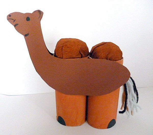 53 camel kid craft http://hative.com/homemade-animal-toilet-paper-roll-crafts/