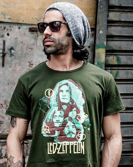 "Camiseta Masculina - Led Zeppelin - ""Rock n´Roll"""
