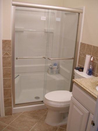 Fibergl Shower Enclosures This Tub Deck Is An Example Of Our Custom Tile Work Every In Bathrooms Pinterest Bathroom