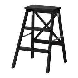 Crawling all over your countertops may be agile and cute, but it's not very safe. I need a BEKVÄM Stepladder, 3 steps - black - IKEA