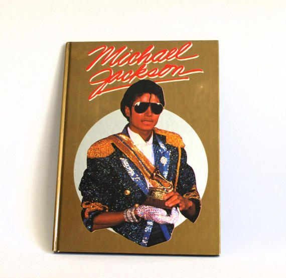 Michael Jackson 1984 Hardcover Book  Vintage Retro by FunkyKoala